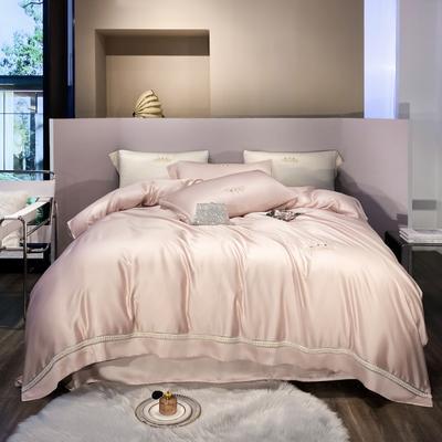 2021春夏新款60S天丝四件套--奈雪系列 1.5m床单款四件套 粉色