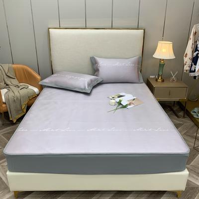2021新款蔓茜可机洗600D冰丝凉席—床笠款 150*200cm 蔓茜-粉