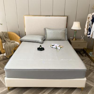2021新款蔓茜可机洗600D冰丝凉席—床笠款 150*200cm 蔓茜-黄