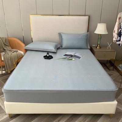 2021新款蔓茜可机洗600D冰丝凉席—床笠款 150*200cm 蔓茜-绿