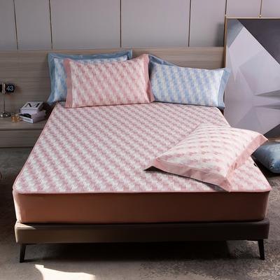 2021新款以梦为马可机洗600D冰丝凉席—床笠款图1 150*195cm 粉色