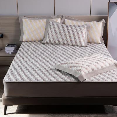 2021新款以梦为马可机洗600D冰丝凉席—床笠款图1 150*195cm 灰色