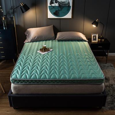 2019新款针织棉记忆立体床垫 90*200cm 绿色