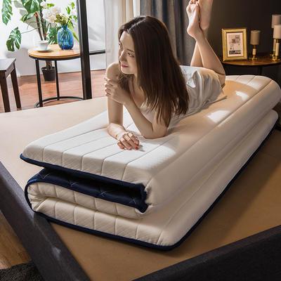 2019新款针织乳胶海绵立体床垫 90*200cm(厚度6cm) 白色-单边