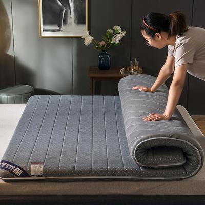 2019新款针织乳胶海绵立体床垫 90*200cm(厚度6cm) 灰色-单边