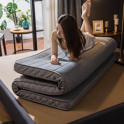 2019新款针织乳胶海绵立体床垫 90*200cm(厚度6cm) 灰色-立体