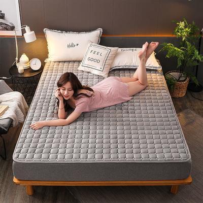 2019新款加厚法莱绒绗绣床垫 60*120cm 高冷灰