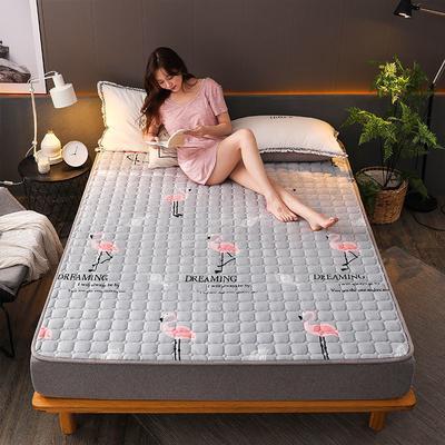 2019新款加厚法莱绒绗绣床垫 90*200cm 我爱火鸟