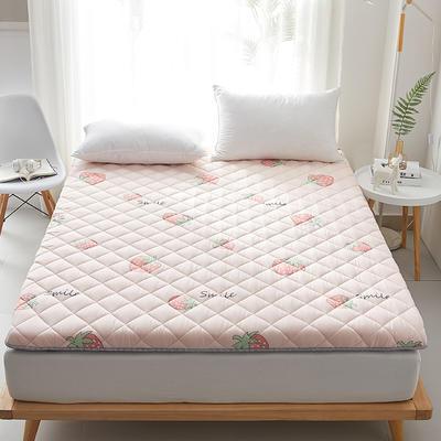 2020新款磨毛舒适床垫系列 90*190cm 草莓-粉