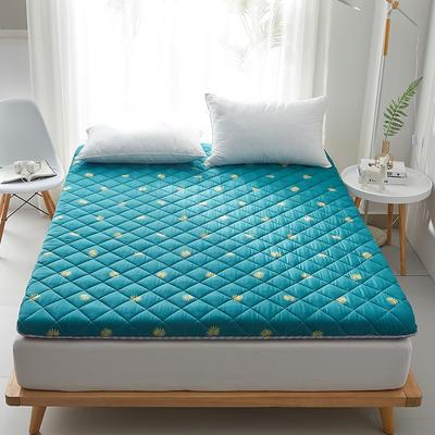 2020新款磨毛舒适床垫系列 90*190cm 枫叶-绿