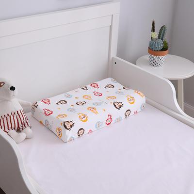 2019新款44*27儿童乳胶枕头枕芯 44*27  (内外套)小猴子