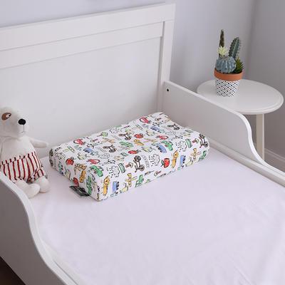 2019新款50*30儿童乳胶枕头枕芯 50*30内外套涂鸦