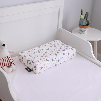 2019新款50*30儿童乳胶枕头枕芯 50*30内外套兔兔熊