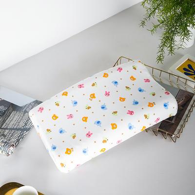 2019新款儿童新款乳胶枕 粉粉兔44*27