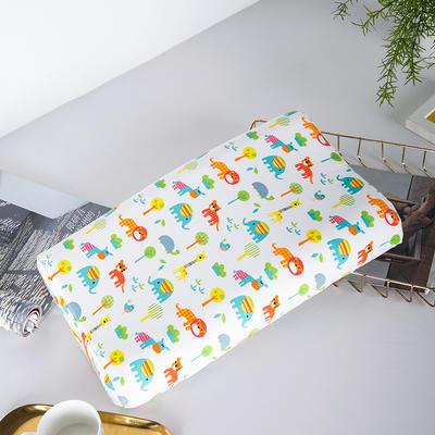 2019新款儿童新款乳胶枕 动物园50*30