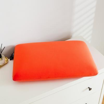 2019新款非温感零压力时尚炫彩系列A品乳胶枕60*40 橙色