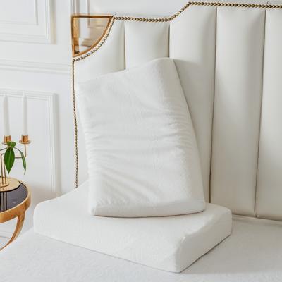 2019新款天然乳膠枕A品天絲系列60*40 純白天絲曲線波浪款