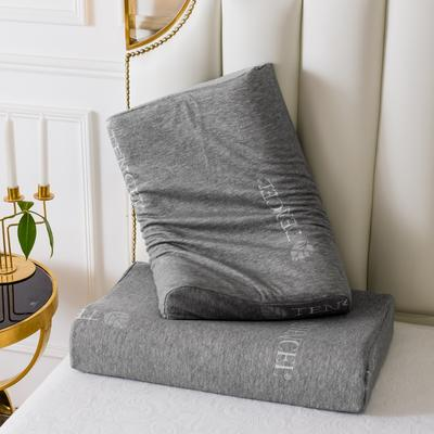 2019新款天然乳膠枕A品天絲系列60*40 灰色天絲曲線波浪款