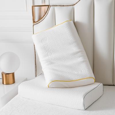 2019新款天然乳膠枕A品天絲系列60*40 時尚銀邊曲線波浪款