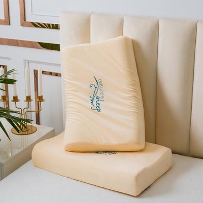 裸粉绣花水晶绒乳胶枕60*40 裸粉绣花水晶绒按摩款