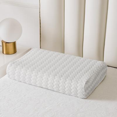 全棉長方格系列乳膠枕60*40 煙灰曲線波浪款