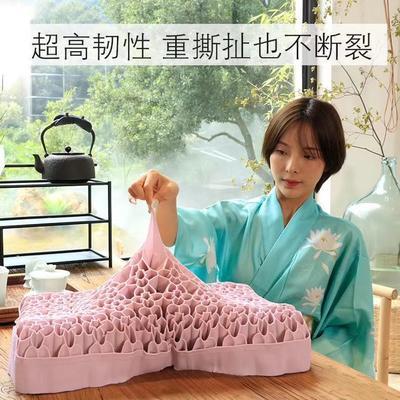 新款果胶枕 无压枕樱花枕果冻枕 紫色(成人枕52*38*8/10cm)