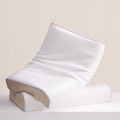 新款纯棉小凌形透气天然乳胶枕60x40cm/个 白色