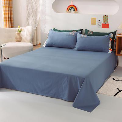 泽西家纺  2021新款40s全棉单床单13372纯棉床单 245cmx245cm单床单 宾利蓝