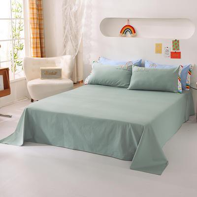 泽西家纺  2021新款40s全棉单床单13372纯棉床单 245cmx245cm单床单 豆绿