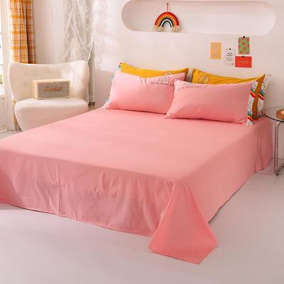 泽西家纺  2021新款40s全棉单床单13372纯棉床单 245cmx245cm单床单 粉色