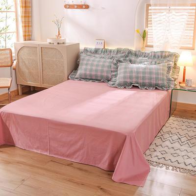 泽西家纺  2021新款40s全棉单床单13372纯棉床单 245cmx245cm单床单 豆沙