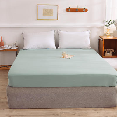 2021新款全棉纯色单床笠 135cmx200cm 豆绿