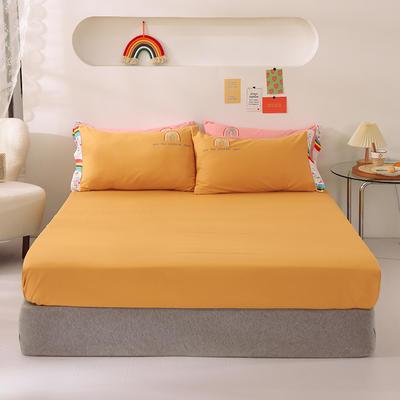 2021新款全棉纯色单床笠 135cmx200cm 黄色