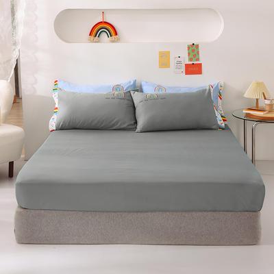2021新款全棉纯色单床笠 135cmx200cm 灰色