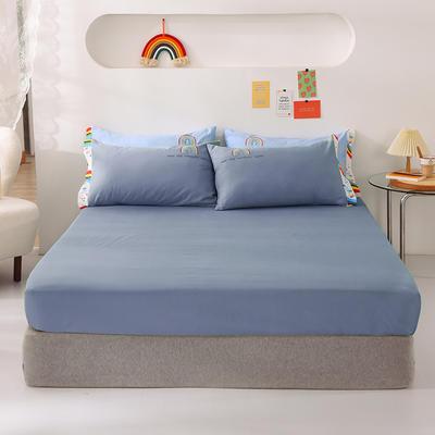 2021新款全棉纯色单床笠 135cmx200cm 加拉蓝