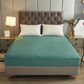 2021新款13372全棉纯棉纯色夹棉床笠单品抗菌床垫保护套