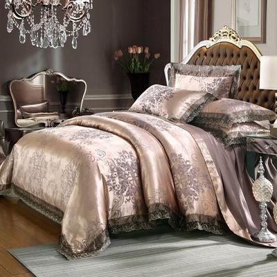 欧式提花亲肤水洗棉绒莫代尔四件套高品质B版磨毛加厚质量保证 1.2m(4英尺)床 圣佛莉亚