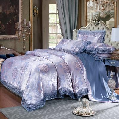 欧式提花亲肤水洗棉绒莫代尔四件套高品质B版磨毛加厚质量保证 1.5m(5英尺)床 伊丽莎白