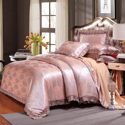 欧式提花亲肤水洗棉绒莫代尔四件套高品质B版磨毛加厚质量保证 1.5m(5英尺)床 都市城堡