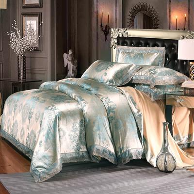 欧式提花亲肤水洗棉绒莫代尔四件套高品质B版磨毛加厚质量保证 1.5m(5英尺)床 西雅图