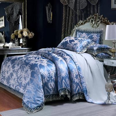 欧式提花亲肤水洗棉绒莫代尔四件套高品质B版磨毛加厚质量保证 1.5m(5英尺)床 天空之城