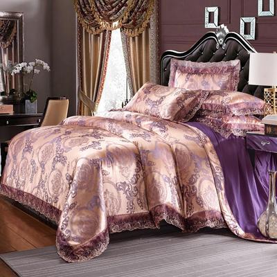 欧式提花亲肤水洗棉绒莫代尔四件套高品质B版磨毛加厚质量保证 1.5m(5英尺)床 曼珠沙华