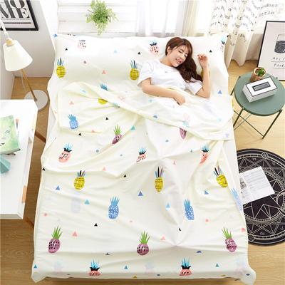 罗优家纺旅行酒店纯棉隔脏睡袋宾馆双人被套便携式旅游防脏床单 菠萝蜜120cm