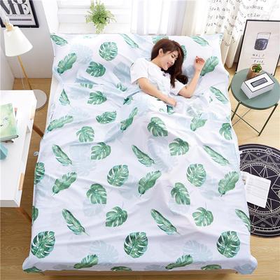 罗优家纺旅行酒店纯棉隔脏睡袋宾馆双人被套便携式旅游防脏床单 楼澜花开160cm