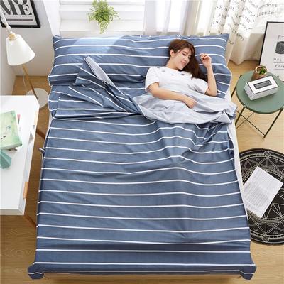 罗优家纺旅行酒店纯棉隔脏睡袋宾馆双人被套便携式旅游防脏床单 拉斐尔120cm