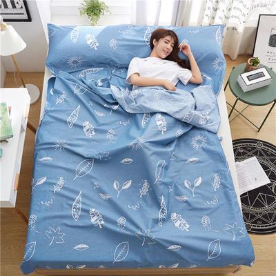 罗优家纺旅行酒店纯棉隔脏睡袋宾馆双人被套便携式旅游防脏床单 清风解语120cm