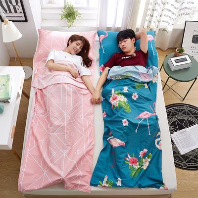罗优家纺旅行酒店纯棉隔脏睡袋宾馆双人被套便携式旅游防脏床单 莉娜80cm