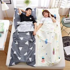 罗优家纺旅行酒店纯棉隔脏睡袋宾馆双人被套便携式旅游防脏床单 菠萝蜜80cm