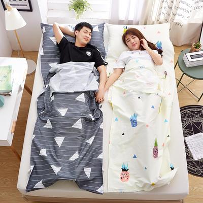 罗优家纺旅行酒店纯棉隔脏睡袋宾馆双人被套便携式旅游防脏床单 巴洛克80cm
