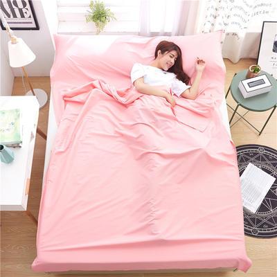 罗优家纺旅行酒店纯棉隔脏睡袋宾馆双人被套便携式旅游防脏床单 粉色160cm
